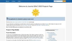GSoC 2020 Joomla