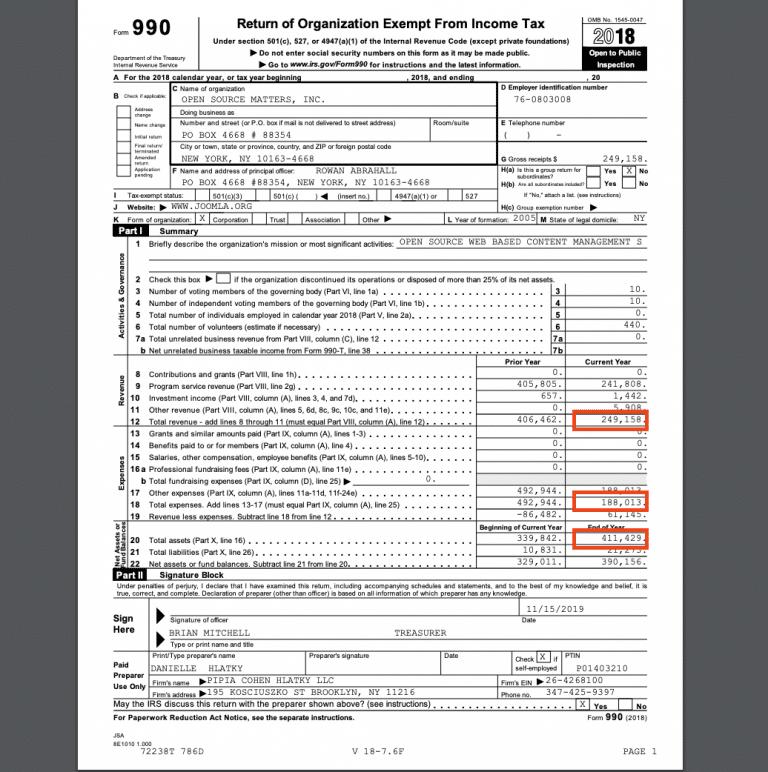 OSM Steuererklärung