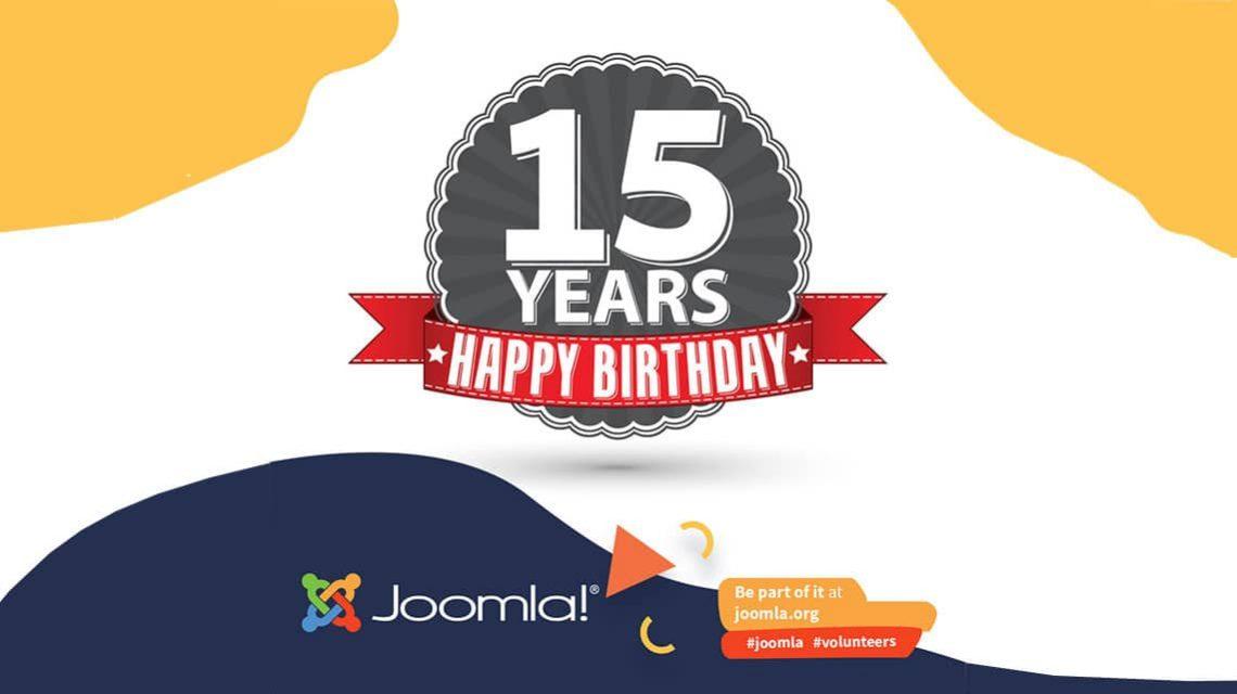 Joomla wird 15 Jahre alt