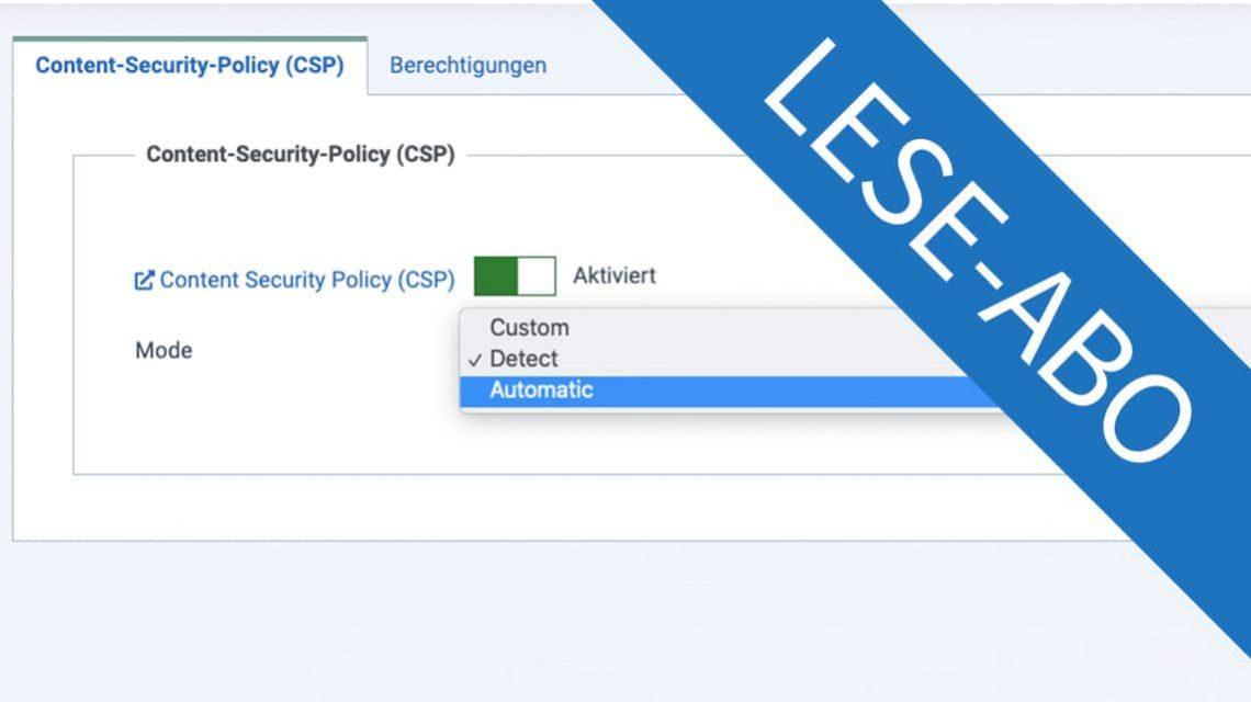 CSP Regeln anwenden