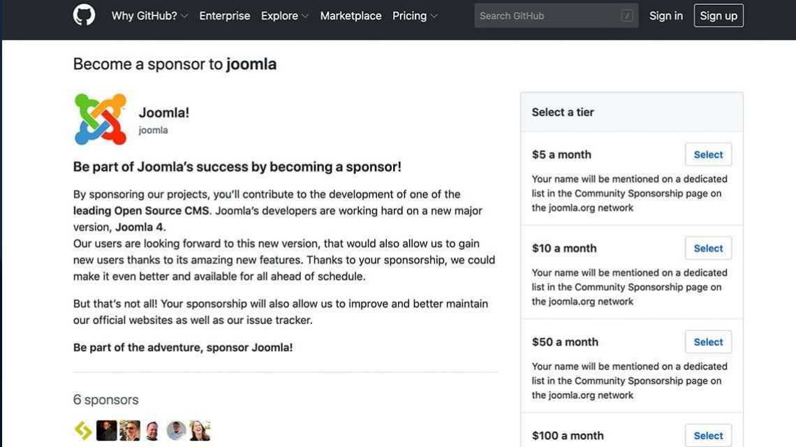 GitHub Sponsoren