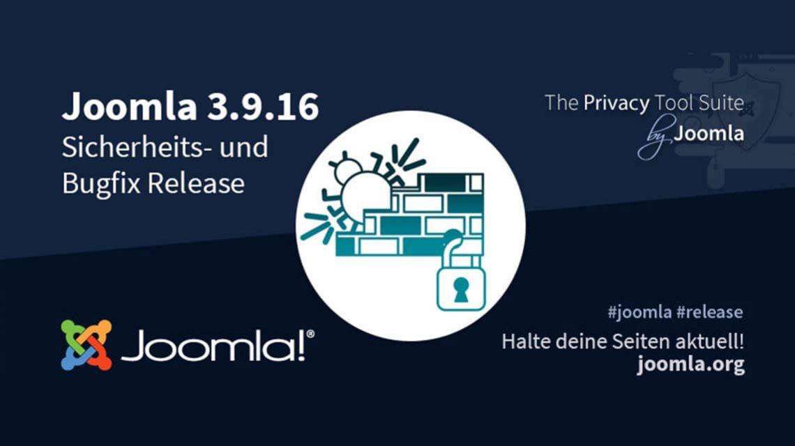 Joomla! 3.9.16 Bugfix & Security Release