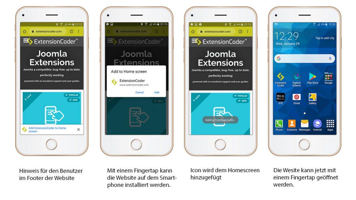 Progressive Web-App hinzufügen